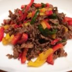 牛肉とパプリカのカラフル炒め№11炒めるだけで栄養も見た目もバッチリ